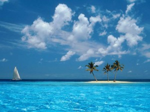 Windows XP Wallpaper - Sailing on the Blue Sea